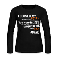 Long Sleeve Shirts ~ Women's Long Sleeve Jersey T-Shirt ~ Eyes