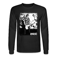 Long Sleeve Shirts ~ Men's Long Sleeve T-Shirt ~ Amasic Black & White