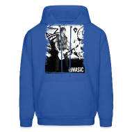 Hoodies ~ Men's Hooded Sweatshirt ~ Amasic Black & White