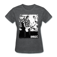 Women's T-Shirts ~ Women's Standard Weight T-Shirt ~ Amasic Black & White