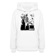 Hoodies ~ Women's Hooded Sweatshirt ~ Amasic Black & White