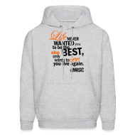 Hoodies ~ Men's Hooded Sweatshirt ~ Life