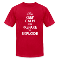 T-Shirts ~ Men's T-Shirt by American Apparel ~ Keep Calm
