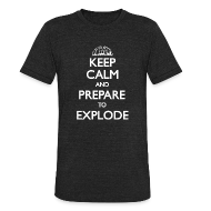 T-Shirts ~ Men's Tri-Blend Vintage T-Shirt ~ Keep Calm Vintage
