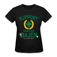 Women's T-Shirts ~ Women's Standard Weight T-Shirt ~ Support Bajen - Dark Tee