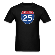 T-Shirts ~ Men's Standard Weight T-Shirt ~ Interstate 25 - Mens