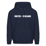 Hoodies ~ Men's Hooded Sweatshirt ~ United better than England
