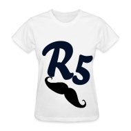 Women's T-Shirts ~ Women's T-Shirt ~ Black Glitter R5 Womens