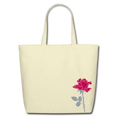Rose2 Eco -freindly Cotton Tote