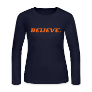 Long Sleeve Shirts ~ Women's Long Sleeve Jersey T-Shirt ~ BELIEVE. in TRT_GEAR (Women's Long Sleeve T)