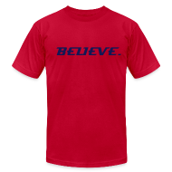 T-Shirts ~ Men's T-Shirt by American Apparel ~ BELIEVE. T-SHIRT (ORANGE CRUSH)