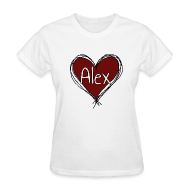 Women's T-Shirts ~ Women's Standard Weight T-Shirt ~ I Heart Alex!