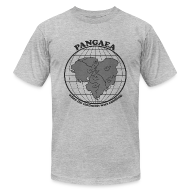 T-Shirts ~ Men's T-Shirt by American Apparel ~ Men's Pangaea T-Shirt Grey