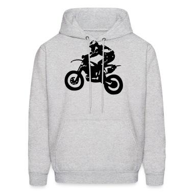 Motocross driver motorbike machine race Hoodies