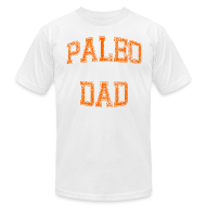 T-Shirts ~ Men's T-Shirt by American Apparel ~ Paleo Dad Men's T-Shirt (Orange Logo)