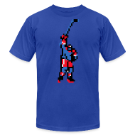 T-Shirts ~ Men's T-Shirt by American Apparel ~ The Goal Scorer - Blades of Steel