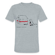 T-Shirts ~ Unisex Tri-Blend T-Shirt by American Apparel ~ T-Rex Painting House (Am. Apparel)