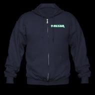 Zip Hoodies & Jackets ~ Men's Zip Hoodie ~ Tekzilla - Men's Zipper Hoodie