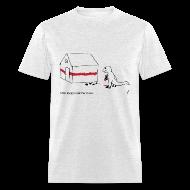 T-Shirts ~ Men's T-Shirt ~ T-Rex Painting House- Basic Tee