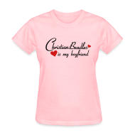 Women's T-Shirts ~ Women's Standard Weight T-Shirt ~ Christian Beadles Is My Boyfriend