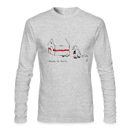 Long Sleeve Shirts ~ Men's Long Sleeve T-Shirt by American Apparel ~ T-Rex Painting House - Long Sleeve