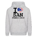 i love san francisco Hoodies