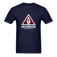T-Shirts ~ Men's Standard Weight T-Shirt ~ 404 Error no GF