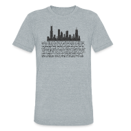 T-Shirts ~ Men's Tri-Blend Vintage T-Shirt ~ I am Chicago