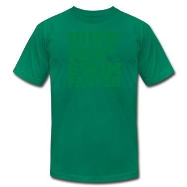 IRISH MEN SWIM FASTER with shamrock sperm St Patrick's day T-Shirts