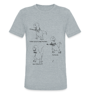 T-Shirts ~ Unisex Tri-Blend T-Shirt by American Apparel ~ T-Rex Ukulele (Am Apparel)
