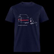 T-Shirts ~ Men's T-Shirt ~ T-Rex Painting House White Design (Basic Tee)
