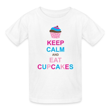 Keep Calm and Eat Cupcakes Kids' Shirts