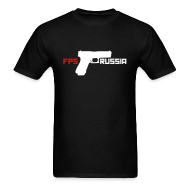 T-Shirts ~ Men's Standard Weight T-Shirt ~ Mens Tee : FPS Russia Gun Logo