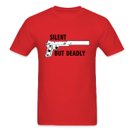 T-Shirts ~ Men's Standard Weight T-Shirt ~ Mens Tee : Silent But Deadly