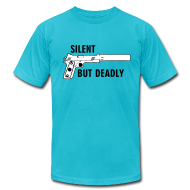 T-Shirts ~ Men's T-Shirt by American Apparel ~ American Apparel Tee : Silent But Deadly