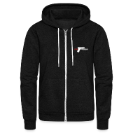 Zip Hoodies/Jackets ~ Unisex Fleece Zip Hoodie by American Apparel ~ American Apparel Zipper : Fps Russia Gun Logo