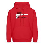 Hoodies ~ Men's Hooded Sweatshirt ~ Mens Hoodie : Silent But Deadly