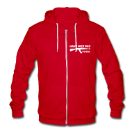 Zip Hoodies/Jackets ~ Unisex Fleece Zip Hoodie by American Apparel ~ American Apparel Zipper : Have Nice Day AK-47