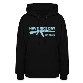 Ladies Hoodie : Have Nice Day AK-47 Baby Blue ~ 776