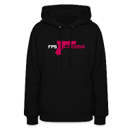 Hoodies ~ Women's Hooded Sweatshirt ~ Ladies Hoodie : FPS Gun Logo