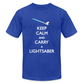 Keep Calm Blue Lightsaber ~ 316