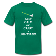 T-Shirts ~ Men's T-Shirt by American Apparel ~ Keep Calm Lightsaber Green