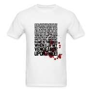 T-Shirts ~ Men's Standard Weight T-Shirt ~ Pulp Fiction: Bloody Ezekiel 25-17 v.2
