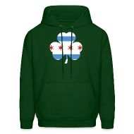 Hoodies ~ Men's Hooded Sweatshirt ~ Chicago Flag Shamrock