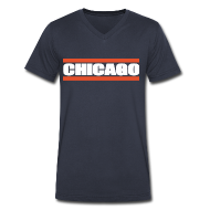 T-Shirts ~ Men's V-Neck T-Shirt by Canvas ~ Chicago Barred