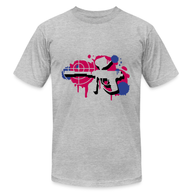 A paintball gun with a crosshair as a graffiti T-Shirts