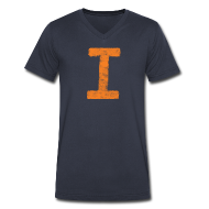 T-Shirts ~ Men's V-Neck T-Shirt by Canvas ~ I is for Illinois