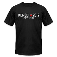 T-Shirts ~ Men's T-Shirt by American Apparel ~ Stop Kenobi 2012 Black