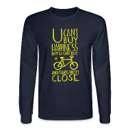 Long Sleeve Shirts ~ Men's Long Sleeve T-Shirt ~ U Can't Buy Happiness But You Can Buy a Bike