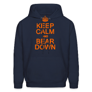 Hoodies ~ Men's Hooded Sweatshirt ~ Keep Calm and Bear Down